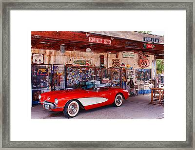 Corvette Drive Rt 66 Framed Print by Fred Larson
