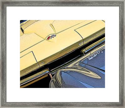 Framed Print featuring the photograph Corvette Edges by Christopher McKenzie