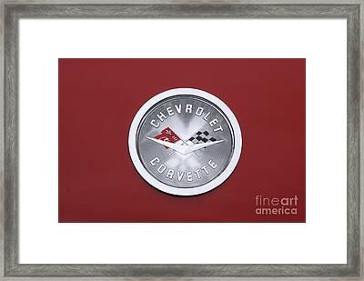 Corvette Emblem Framed Print by Neil Zimmerman