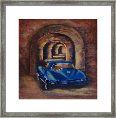 corvette Fort Mccomb Framed Print by Jane Landry  Read