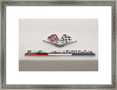 Corvette Fuel Injection Framed Print by Scott Campbell