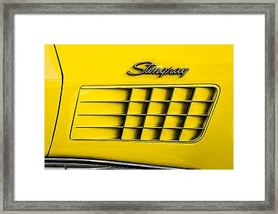 Corvette Gills Framed Print