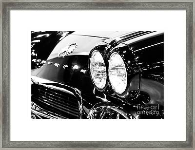 Corvette Picture - Black And White C1 First Generation Framed Print