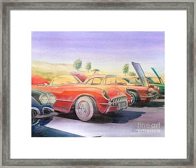 Corvette Show Framed Print by Robert Hooper