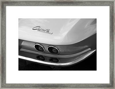 Corvette Sting Ray Framed Print by David Wornham