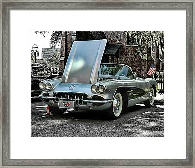 Framed Print featuring the photograph Corvette by Victor Montgomery