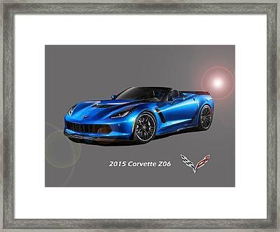 Corvette Z06 Convertible Framed Print