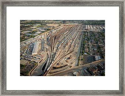 Corwith Intermodal Rail Yard Chicago Framed Print