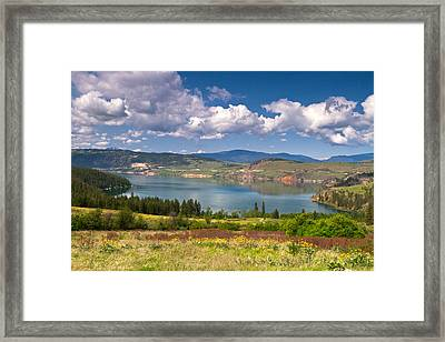 Cosens Bay On Kalamalka Lake Framed Print by Michael Russell