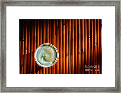 Cosmetic Cream Framed Print by Olivier Le Queinec