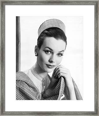Cosmetic Facial Fashion Framed Print by Underwood Archives
