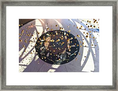 Cosmic - Aerial View Of The Entry Plaza To The California Science Center  Framed Print