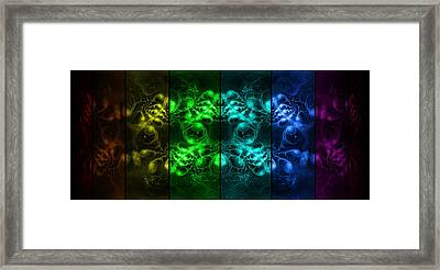 Cosmic Alien Eyes Pride Framed Print by Shawn Dall