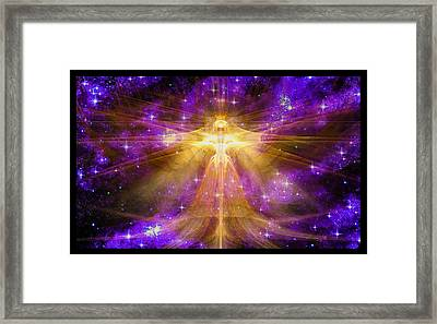Cosmic Angel Framed Print