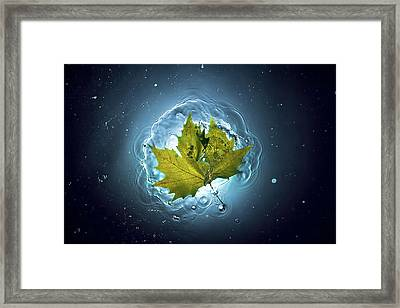 Cosmic Autumn Framed Print