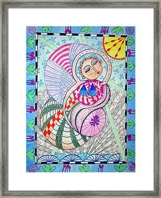Cosmic Bliss Framed Print by Sandra Lewis