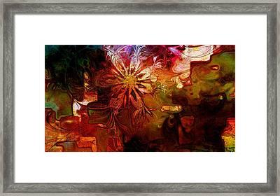 Cosmic Bloom Framed Print by Amanda Moore