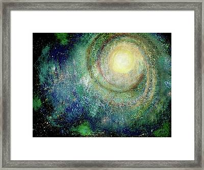 Cosmic Breath Framed Print by NARI - Mother Earth Spirit