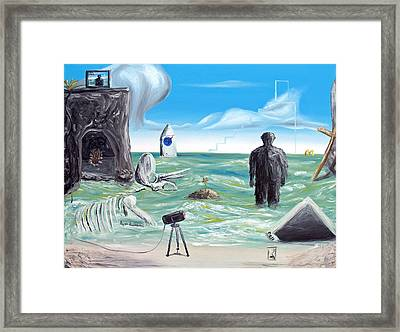 Cosmic Broadcast -last Transmission- Framed Print by Ryan Demaree