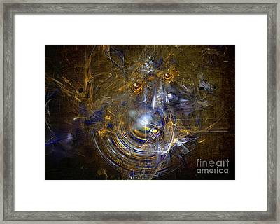 Framed Print featuring the painting Cosmic Bubbles by Alexa Szlavics
