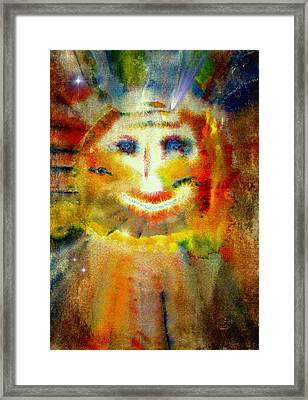 Cosmic Caricature Framed Print