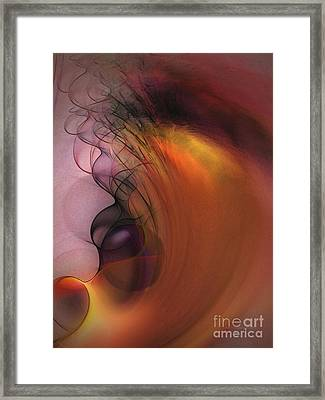 Cosmic Framed Print by Karin Kuhlmann