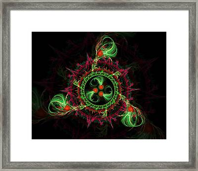 Cosmic Cherry Pie Framed Print