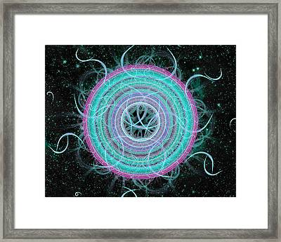 Cosmic Circle Framed Print by Shawn Dall