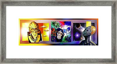 Cosmic Citizen Framed Print by Hartmut Jager