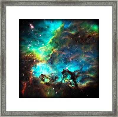 Cosmic Cradle 1 Star Cluster Ngc 2074 Framed Print by Jennifer Rondinelli Reilly - Fine Art Photography