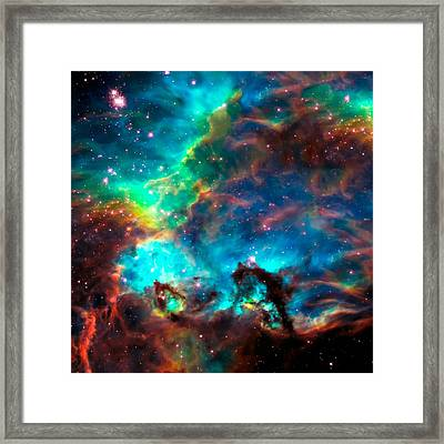 Cosmic Cradle 2 Star Cluster Ngc 2074 Framed Print
