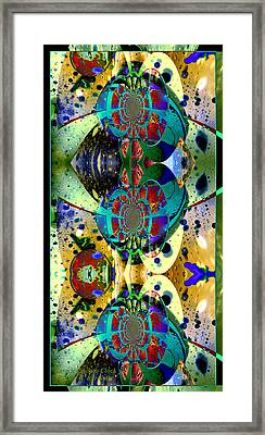 Cosmic Cuckoo Clock Framed Print by Robert Kernodle