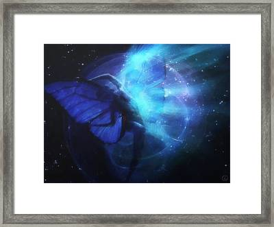 Cosmic Dance Of Joy Framed Print by Gun Legler