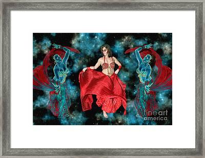 Cosmic Dance Framed Print by Ursula Freer