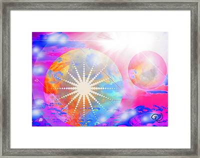 Cosmic Delight Framed Print