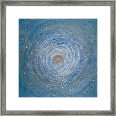 Cosmic Nest Framed Print by Janelle Schneider