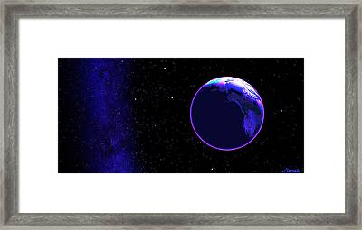 Cosmic Embrace #1 Framed Print by Renee Anderson