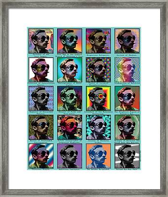 Cosmic Employment Guild Framed Print by Eric Edelman