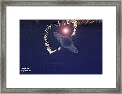 Cosmic Event Framed Print by Augusta Stylianou