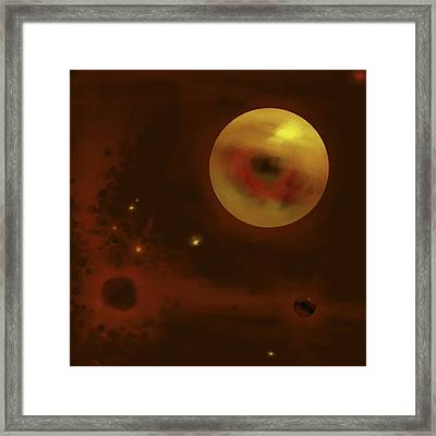 Cosmic Eye Framed Print