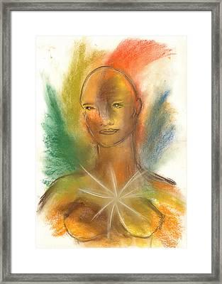 Cosmic Feminine Framed Print