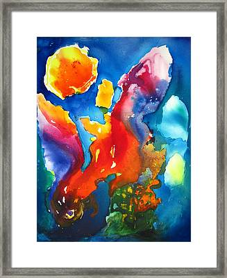 Cosmic Fire Abstract  Framed Print by Carlin Blahnik