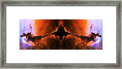 Cosmic Fire Fish Framed Print by Jennifer Rondinelli Reilly - Fine Art Photography