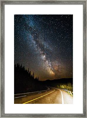 Cosmic Highway Framed Print