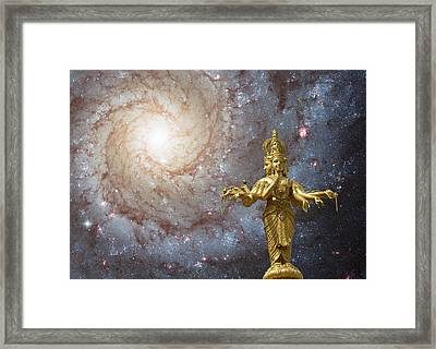 Cosmic Hindu Divinity Framed Print by Gregory Smith