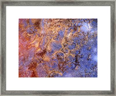 Cosmic Ice Framed Print