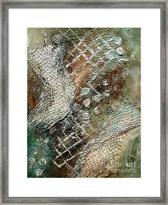 Silvered Salmon Framed Print