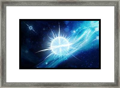 Framed Print featuring the digital art Cosmic Icestream by Shawn Dall