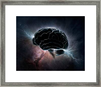 Cosmic Intelligence Framed Print by Johan Swanepoel