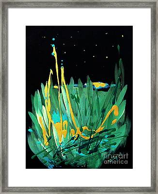 Framed Print featuring the painting Cosmic Island by Holly Carmichael